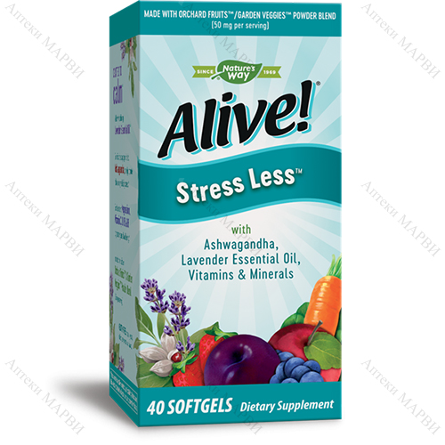 Alive! Stress Less / Алайв Стрес Лес, 40 софтгел капс.