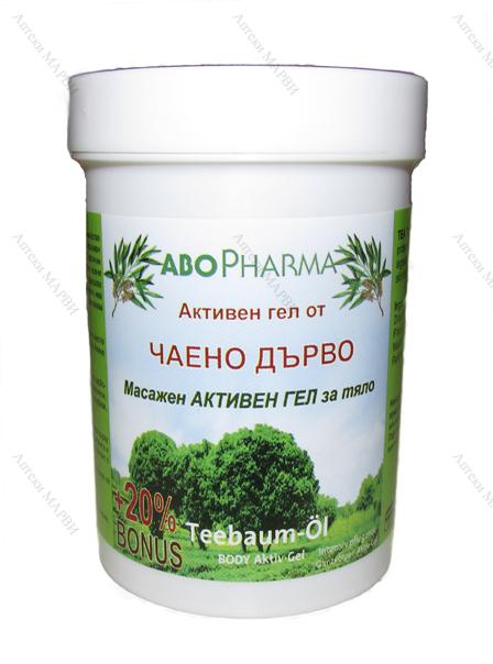 гел от чаено дърво AboPharma, Масажен Активен гел от чаено дърво, 150 мл. гел от чаено дърво