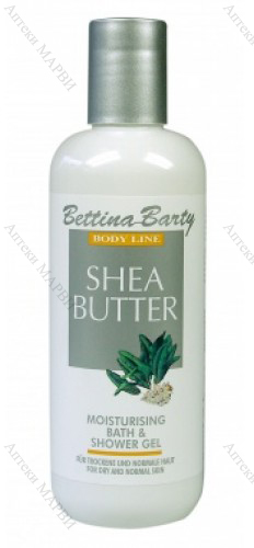 Bettina Barty SHEA BUTTER, Гел за вана и душ - с масло от Шеа, 400 мл.