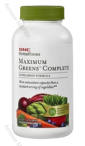 GNC SuperFoods, Максимум Грийн Комплийт - супер храна, 90 раст. капс.
