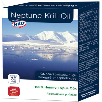 Neptune Krill Oil / Нептун Крил Ойл, Омега-3, 500 мг., 30 капс.