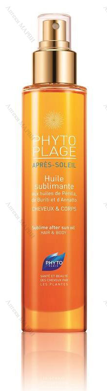 PHYTOPLAGE Apres-Soleil Huile Sublimante, Масло за след слънце - за коса и тяло, 100 мл.