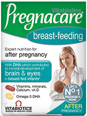 АКЦИЯ Vitabiotics, Pregnacare Breast-feeding / Прегнакеър, по време на кърмене - Витамини и минерали + Омега-3, 56 табл. + 28 капс.