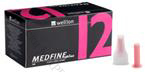 Wellion Medfine Plus - 12 / Велион, Игли за инсулинови писалки 0,33mm (29G) х 12 мм , 100 бр.