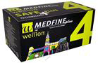 Wellion Medfine Plus - 4 / Велион, Игли за инсулинови писалки /4 мм/, 100 бр.