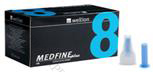 Wellion Medfine Plus - 8 / Велион, Игли за инсулинови писалки /8 мм/, 100 бр.